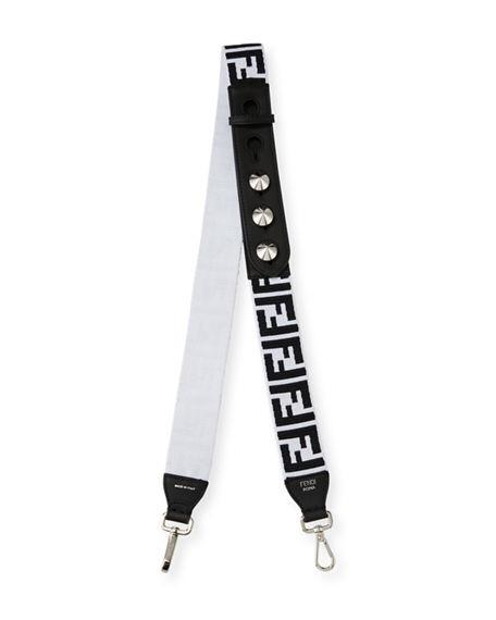 Fendi FF White Canvas Strap