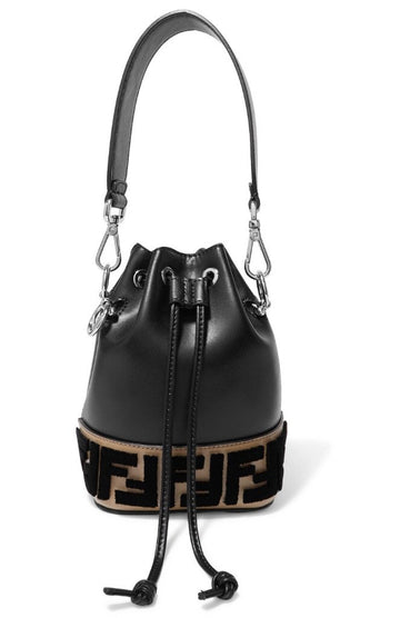Fendi Mon Tresor Flocked Bucket Bag - Luxury Next Season