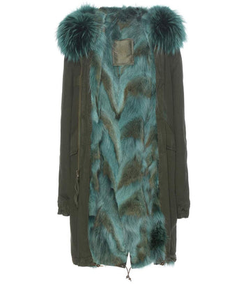 Mr and Mrs Italy Parka Coyote Green Parka - Luxury Next Season