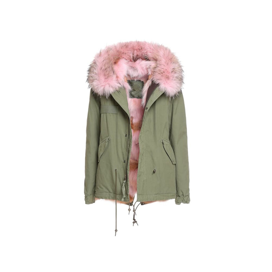Mr and Mrs Italy Coyote Pink Mini Parka - Luxury Next Season