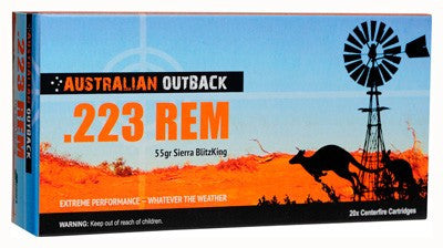 ADI OUTBACK AMMO .223 55GR. SIERRA BLITZ-KING 20 PACK - Rifle Ammunition - CNFA Outdoors