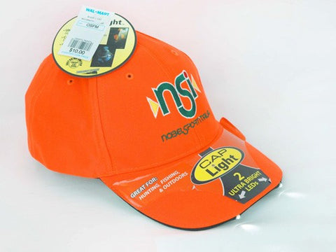 Nobel Sport Cap Light Orange 2 Ultrabright LEDs in Bill - Clothing - CNFA Outdoors