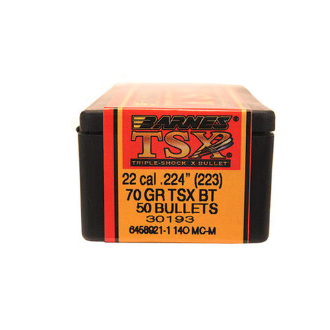 Barnes Bullets 223 Caliber 70gn Triple Shock X BT - Box of 50 - Bullets - CNFA Outdoors