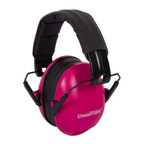 Champion Slim Passive Ear Muffs - Pink - Ear Protection - CNFA Outdoors