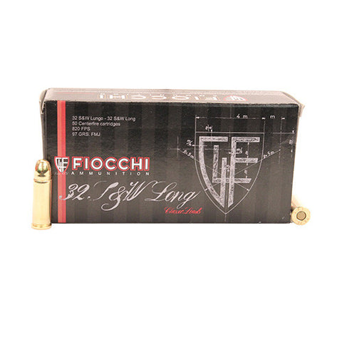 Fiocchi 32 Smith & Wesson Long 97gn FMJ - box of 50 - Pistol Ammunition - CNFA Outdoors