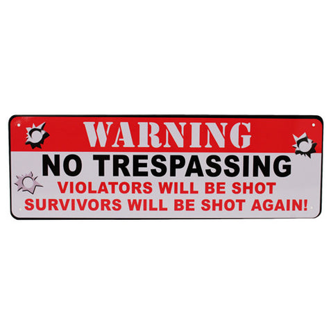 Tin Sign Warning No Trespassing - Sign - CNFA Outdoors