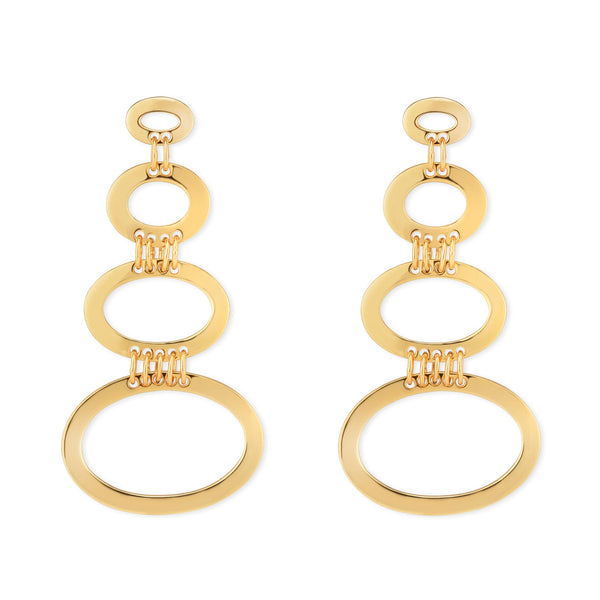 Horizontal Oval Earrings