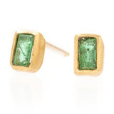 Mini Gold and Emerald Studs