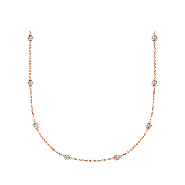 Long Diamond Station Necklace