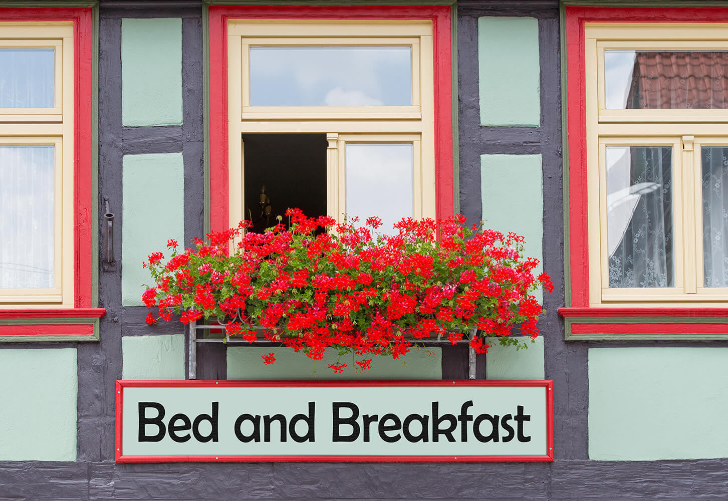 Bed and Breakfast with flowers