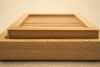 2 Piece Wooden Soap Dish - Emz Blendz