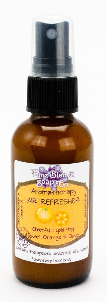 Sweet Orange & Clove | Natural Aromatherapy Air Refresher | Cheerful & Uplifting - Emz Blendz