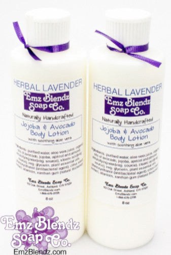 Handmade Natural B&B Inn Guest Amenity Jojoba and Avocado Body Lotion, Pack of 10 Large 8 oz Bottles - Emz Blendz