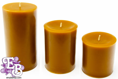 100% Pure Organic Beeswax Candles - Emz Blendz
