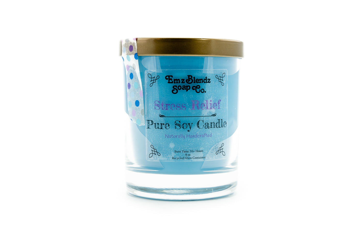 Stress Relief - 100% Natural Soy Wax, Glass 8 oz