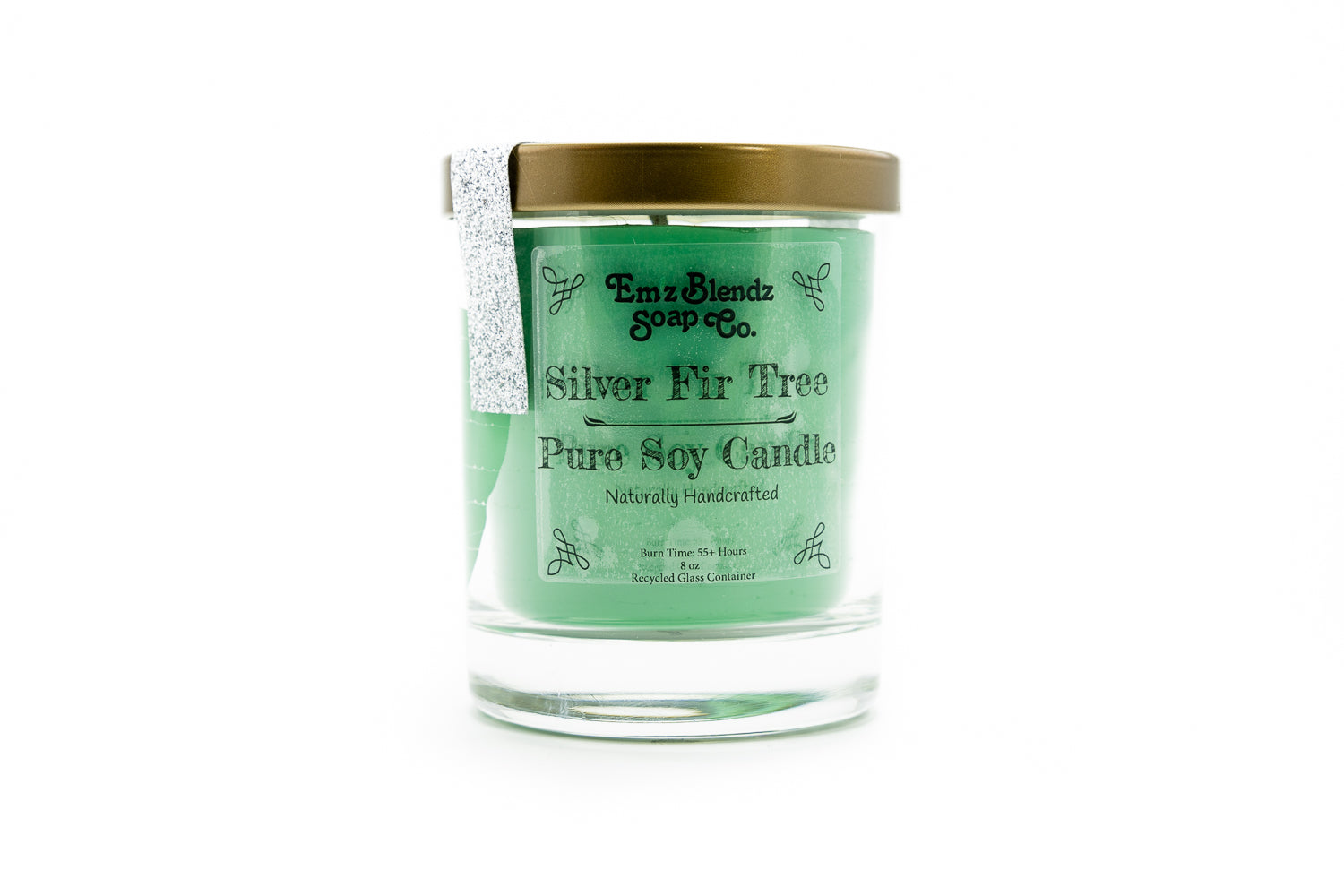 Silver Fir Tree - 100% Natural Soy Wax, Glass 8 oz