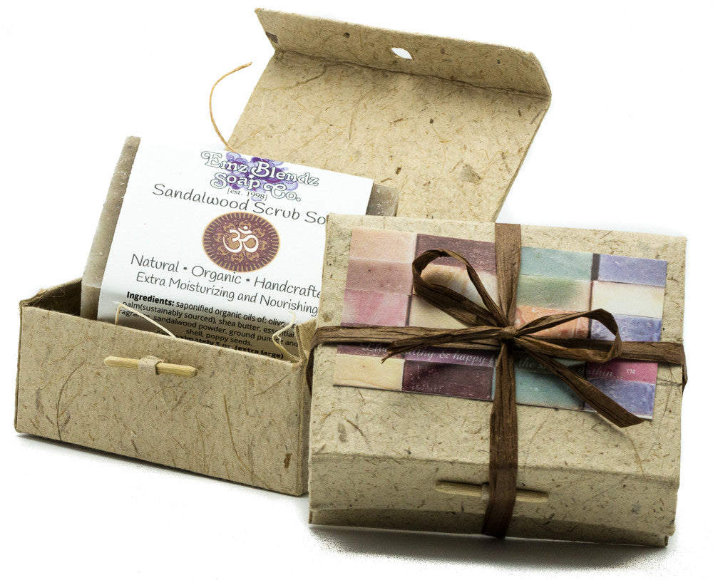 One Large (5 oz) Soap in Handmade Banana Paper Gift Box - Emz Blendz