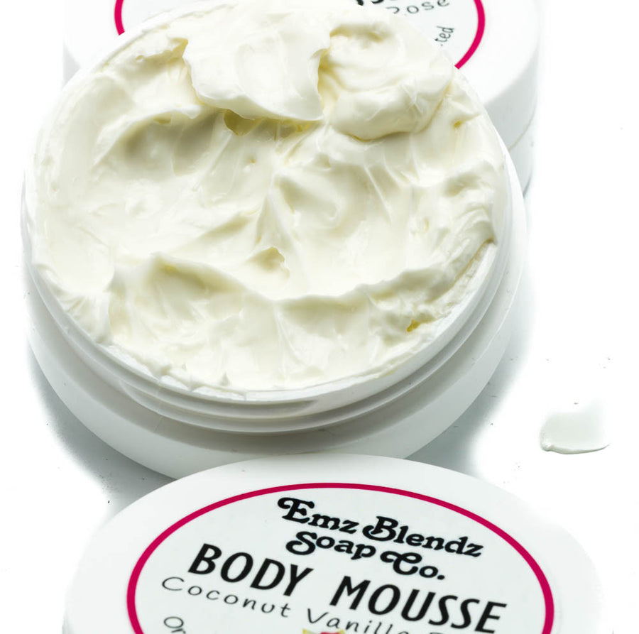 Coconut Vanilla Rose Body Mousse