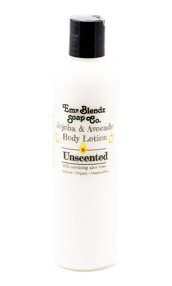 Unscented | Jojoba & Avocado Body Lotion - Emz Blendz