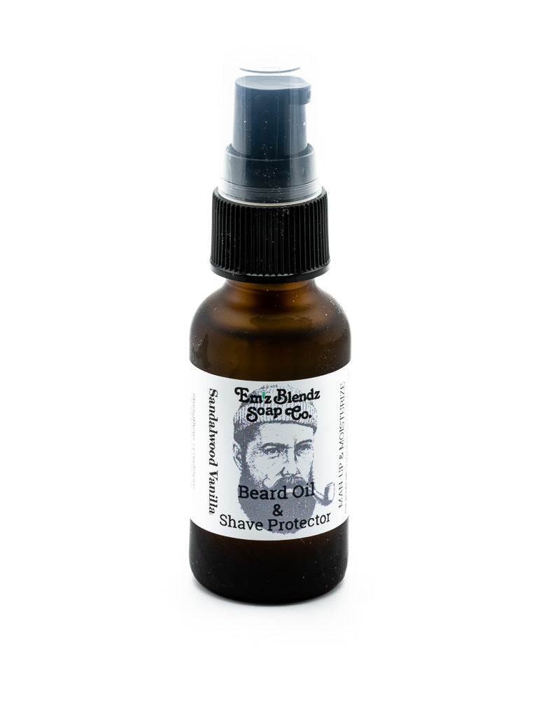 Beard Oil Shave Protector | Sandalwood and Vanilla - Emz Blendz