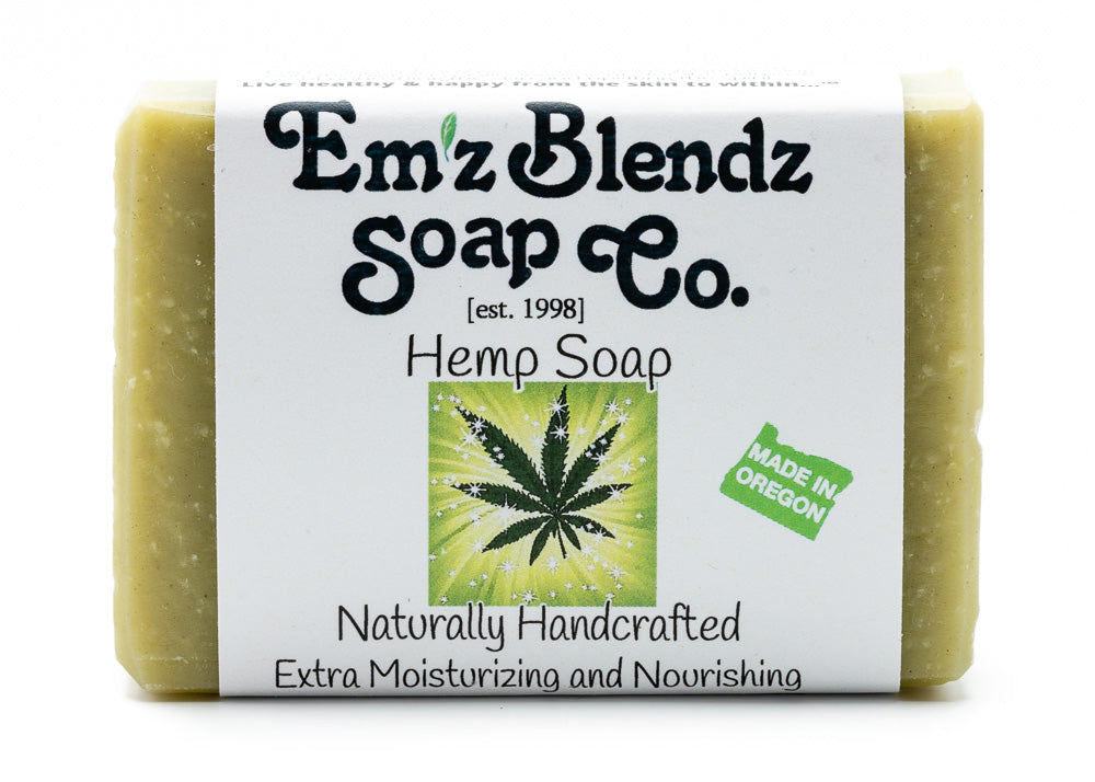 Hemp Soap Bar with Cannabis Sativa Seed Oil - Emz Blendz