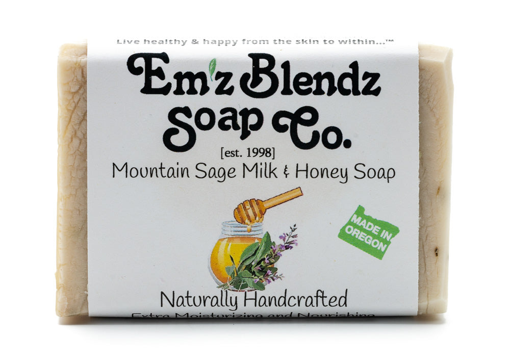 Mountain Sage Milk and Honey Soap Bar - Emz Blendz