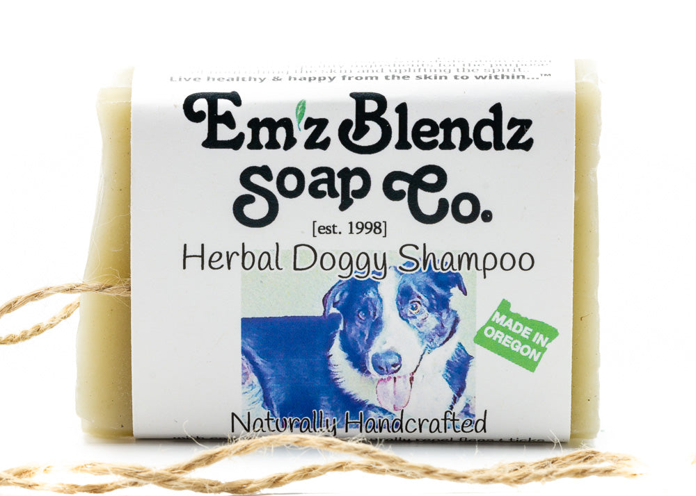 Natural Herbal Dog Shampoo Bar - Emz Blendz
