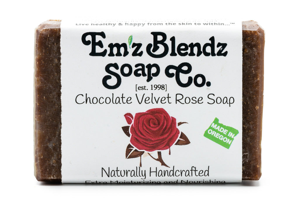 Chocolate Velvet Rose Soap Bar - Emz Blendz