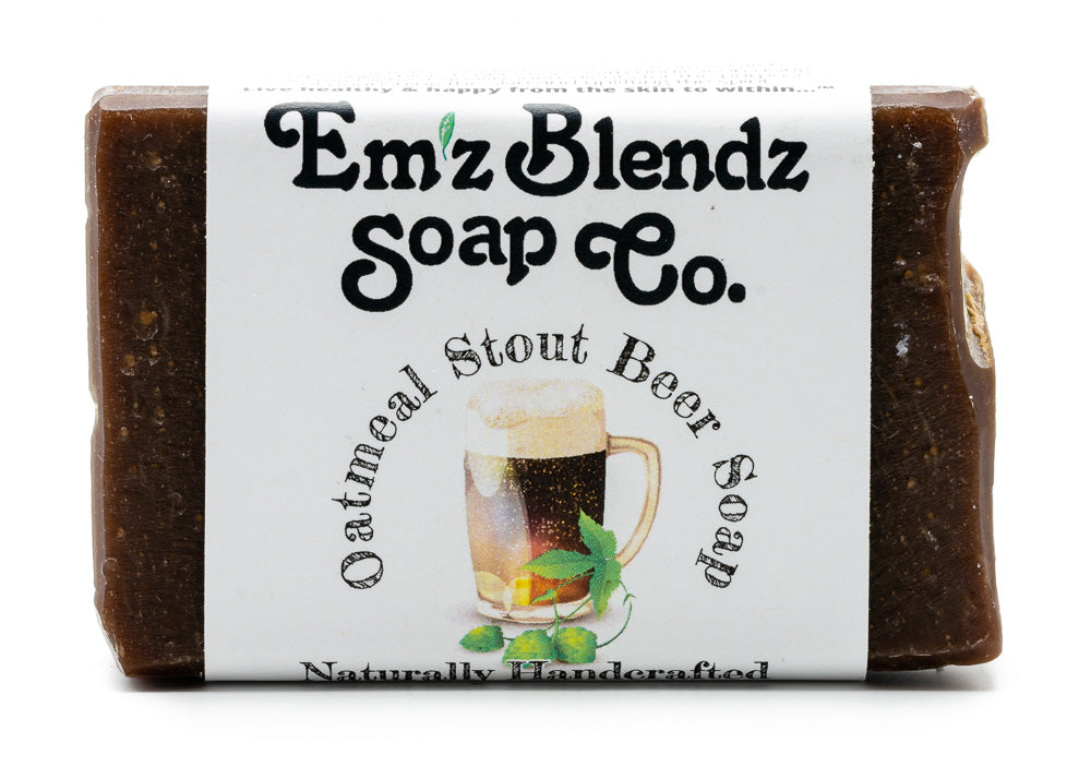 Oatmeal Stout Beer Soap Bar - Emz Blendz