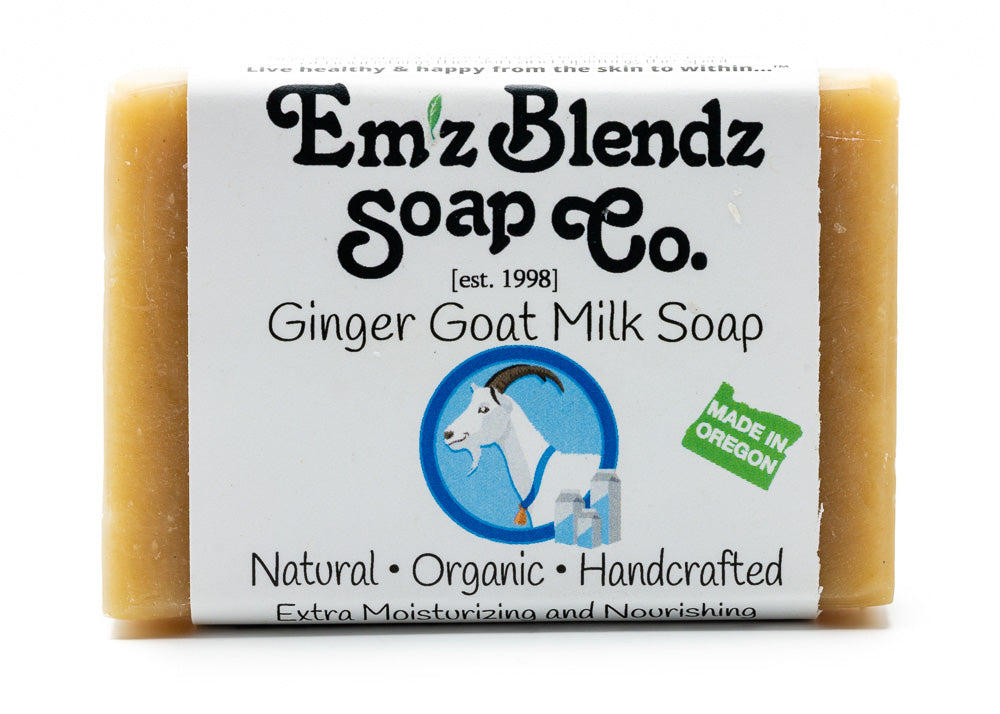 Ginger Goat Milk Soap Bar - Emz Blendz