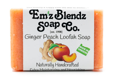 Ginger Peach Loofah Soap Bar - Emz Blendz