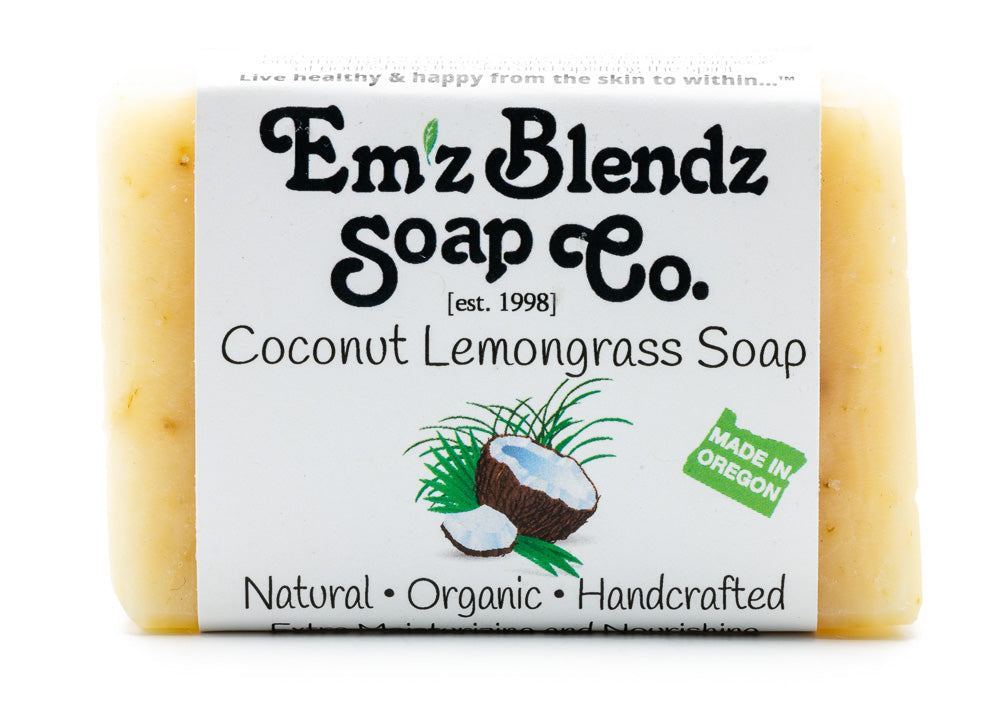Coconut Lemongrass Lime Soap Bar - Emz Blendz