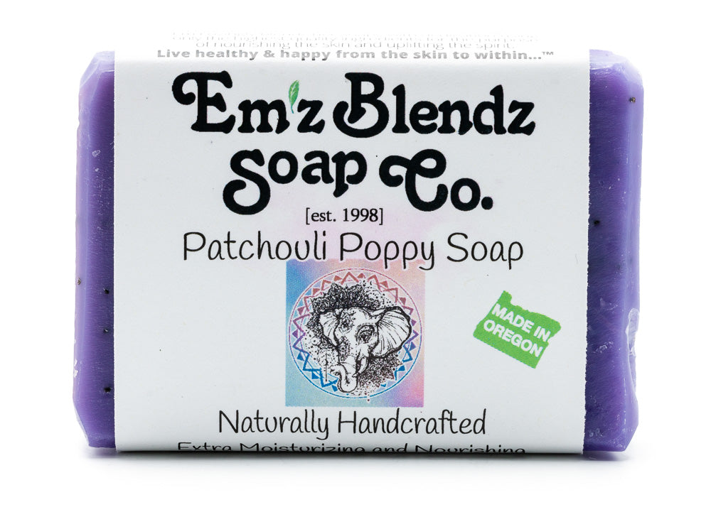 Patchouli Poppy Seed Soap Bar - Emz Blendz