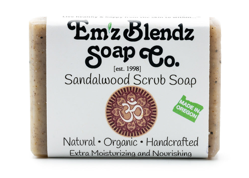 Sandalwood Scrub Soap Bar - Emz Blendz