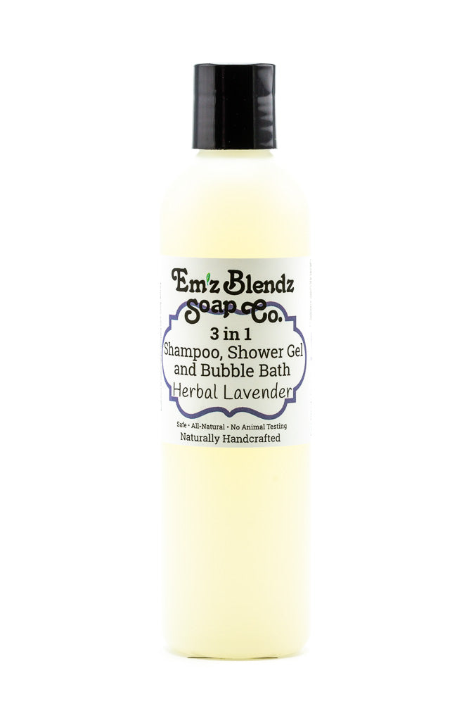 Herbal Lavender | 3 in 1 - Shampoo, Bubble Bath and Shower Gel - Emz Blendz