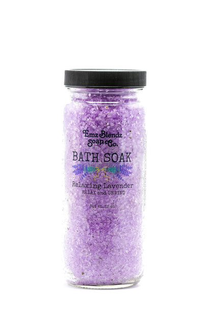 Relaxing Lavender | Moisturizing Bath Soak | Bath Salts - Emz Blendz