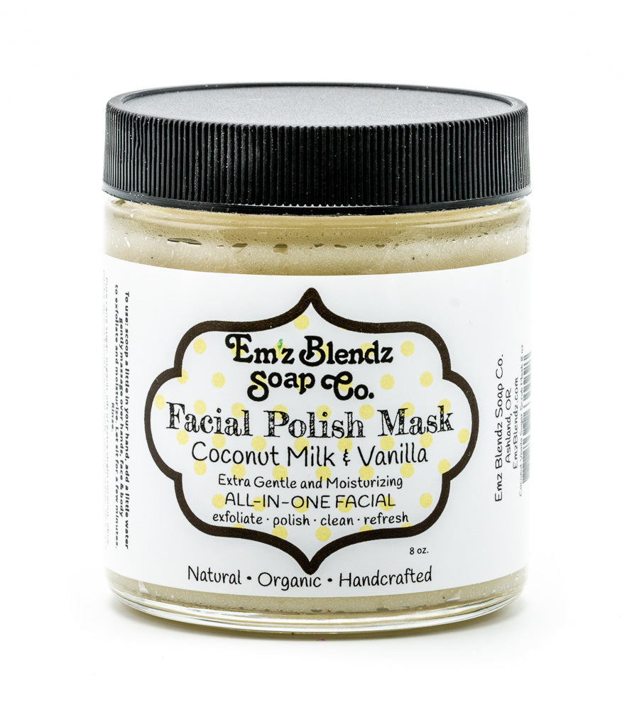 Coconut Milk & Vanilla | Sugar Polishing MASK - Emz Blendz
