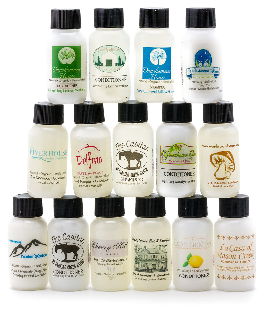 Handmade Natural B&B Inn Guest Amenity 2-in-1 Creamy Conditioning Shampoo - Emz Blendz