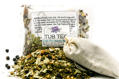 Cold, Flu and Immune Boost | Herbal Tub Tea - Emz Blendz