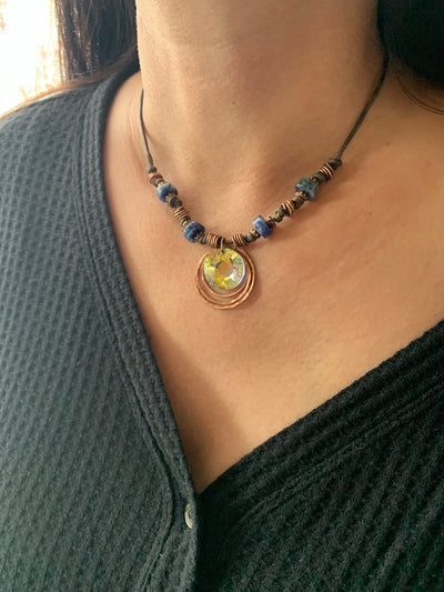 Sunlight Sodalite Crystal Necklace