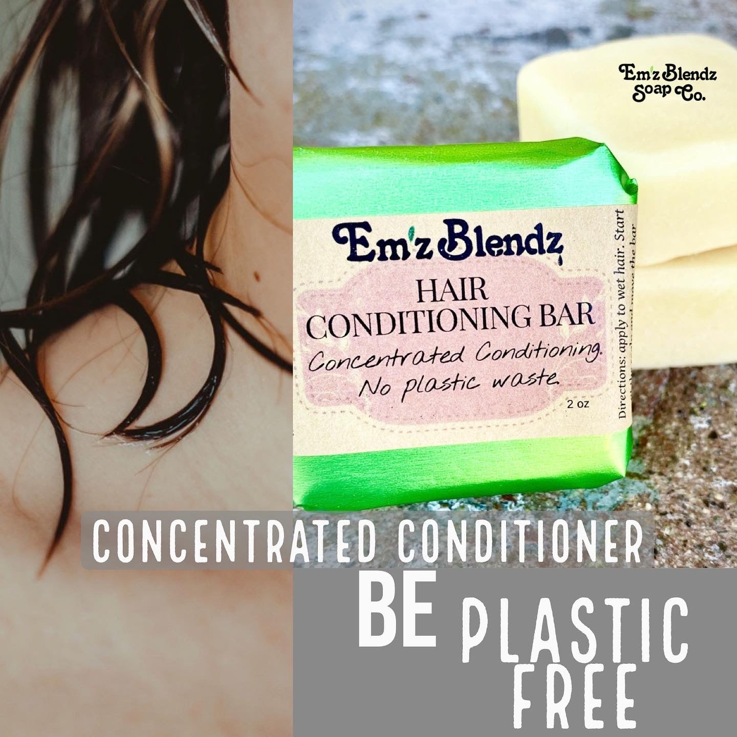 Hair Conditioning Bar | Concentated Contioning | Plastic Free