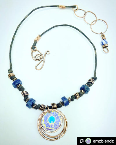 Sunlight Necklace | Blue Sodalite & Copper | Intuition & Truth - Emz Blendz
