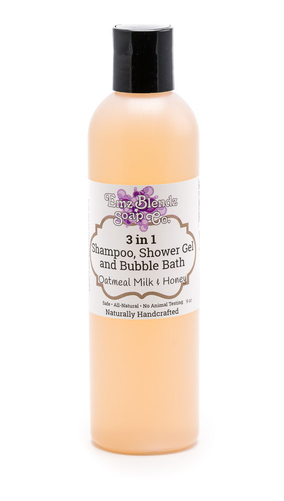 Oatmeal Milk & Honey | 3 in 1 - Shampoo, Bubble Bath and Shower Gel - Emz Blendz