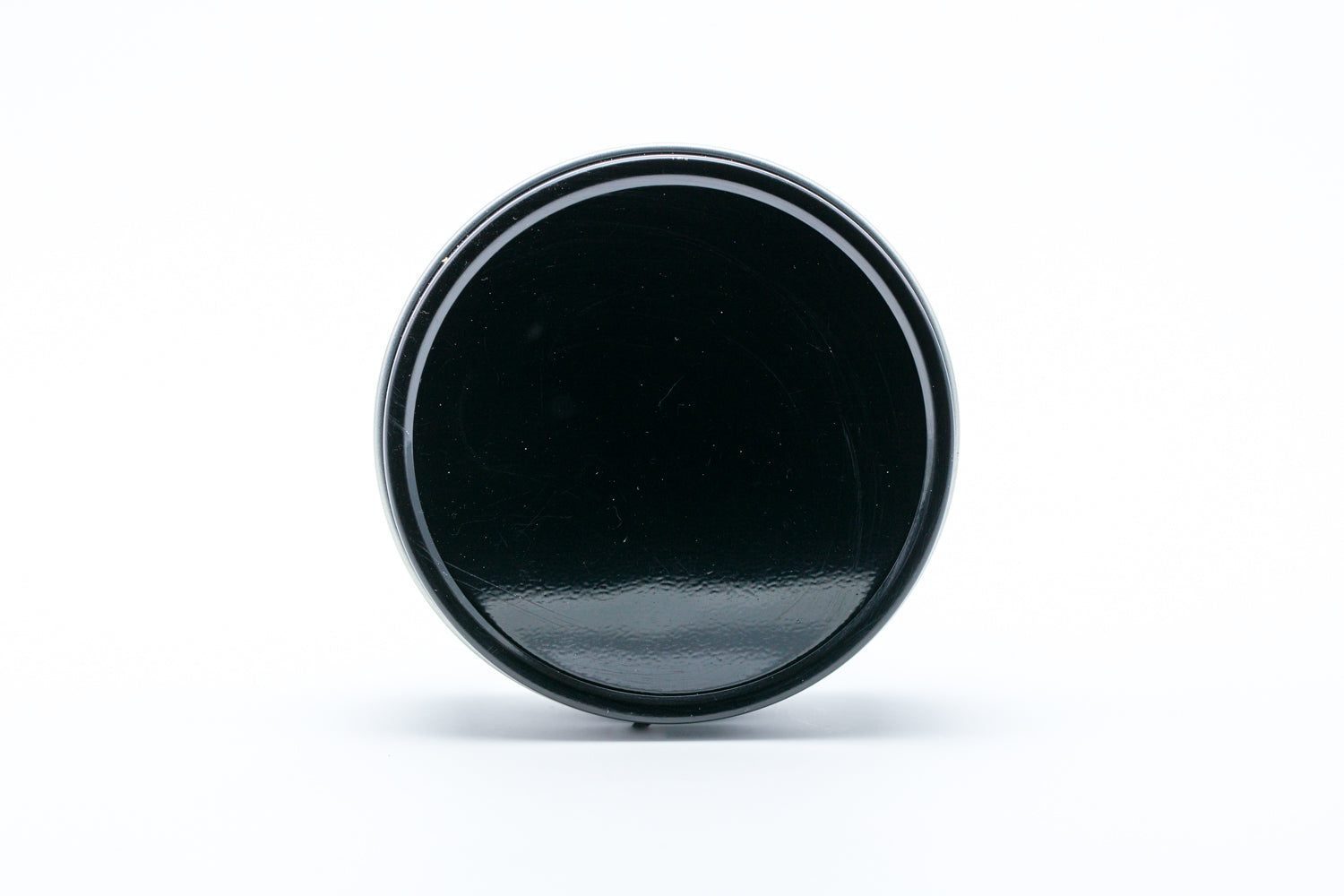 Shaving Soap Black Metal Container