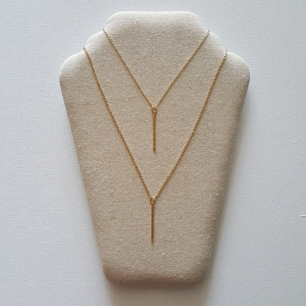 Amity Double Bar Necklace