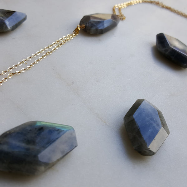 BEXO Limited Edition Collection - Labradorite Stone Necklace