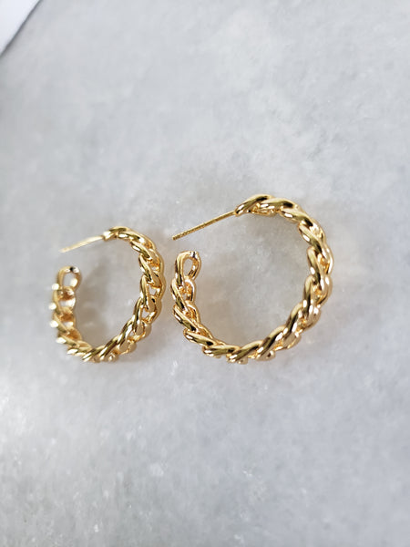 Nimia Small Link Hoops