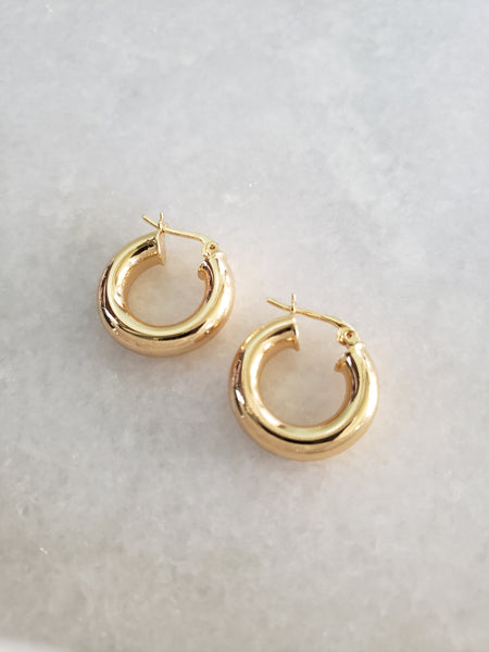 Marie Lou Gold Hoops