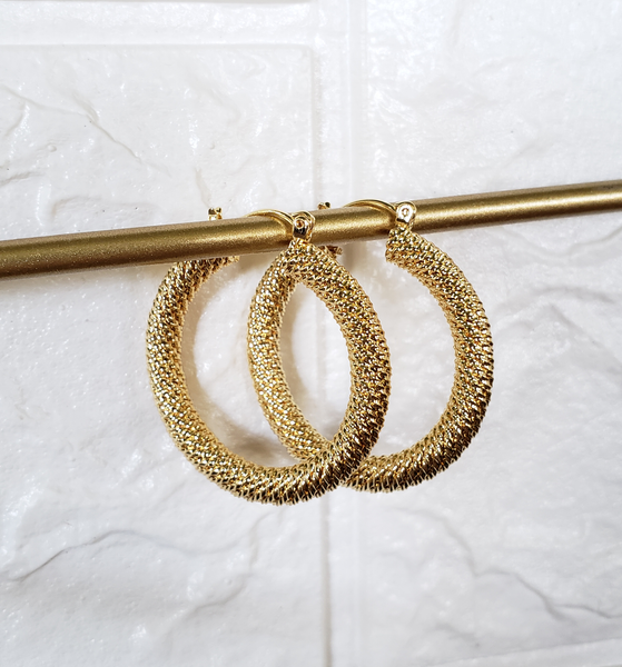 Nimia Big Gold Hoops