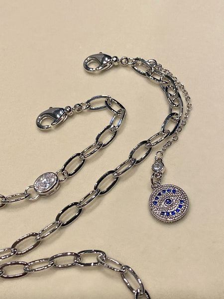 Evil eye Disc Chain